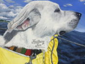 """Captain Tanner - 11""""x14"""" Acrylic painting from Feathers and Fur Portraits (Bryan Man)"""